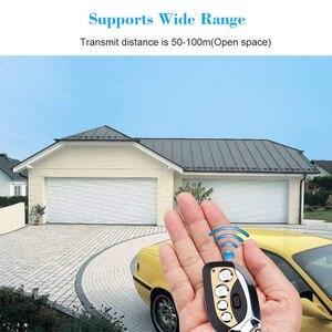 Image 5 - Kebidu אלחוטי מרחוק שליטה מרחוק בקר האוטומטי מעתק 433MHz מתכוונן שער מוסך דלת Keychain עבור רכב