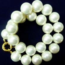 "Огромный 20 мм AAA+ белый south sea shell Жемчужное ожерелье 1"" AAA AAAAAAA"