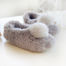 Zapatillas Faux Kaninchenfell Hausschuhe Hause Frauen Und Mädchen Plüsch Warme Indoor Rutschfeste Schuhe Frau Pelz Hohe Qualität pelzigen Hausschuhe