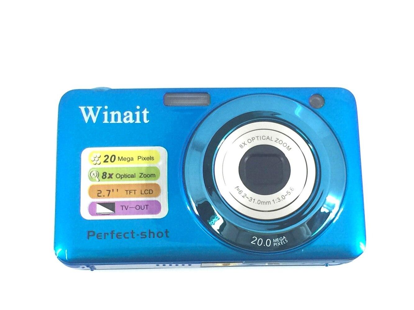 Winait marque appareil Photo numérique professionnel DC-V600 8x Zoom optique Mini appareil Photo Fotografica intégré batterie au Lithium
