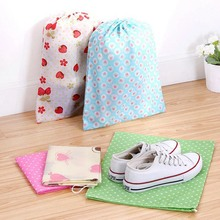 Waterproof Portable Non-Woven Fabric Material Shoe Bag Organizer Travel Accessories Pouch Multifunction Storage Bag cute rabbit style portable non woven cloth carrying pouch white