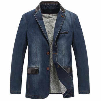 NEW Leisure cowboy Coats Mens Loose Blazer Suit Autumn Denim Jackets Fashion Chaqueta Coat Jacket Tops Outer Male Blazers - DISCOUNT ITEM  25% OFF All Category