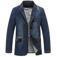 AFS JEEP Leisure Cowboy Coats Mens Loose Blazer Suit Autumn Denim Jackets Fashion Chaqueta Coat Jacket