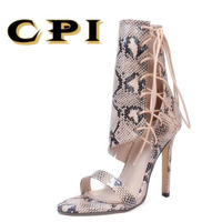 CPI Roman Sandals Women Pumps New Style Booties Ladies Sexy Lace Up Stiletto High Heels Shoes Woman fashion wedges NX-014