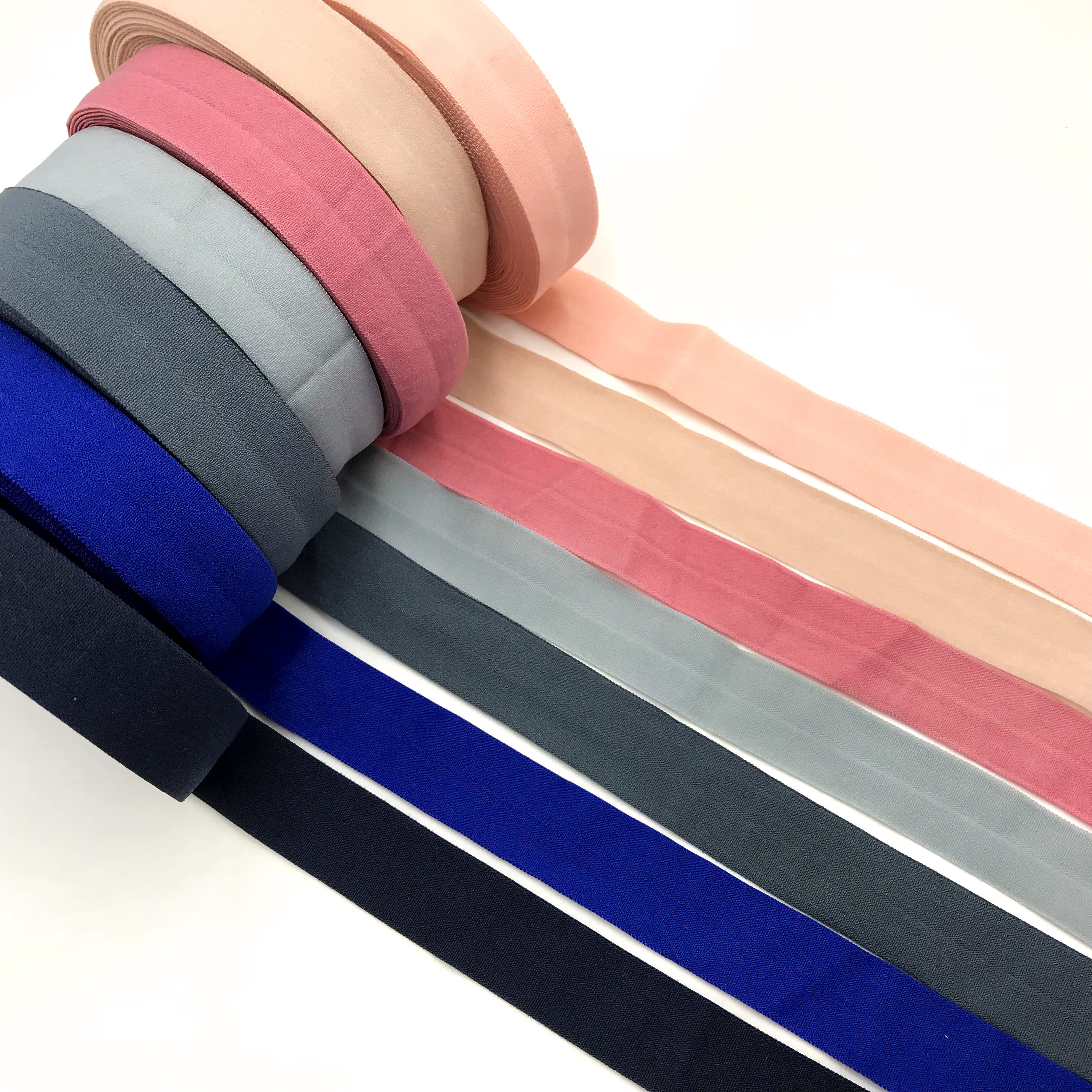 20mm Folded Elastic Band Over Elastic Spandex Satin Band Ties Hair Accessories Sewing Lace Trim Ribbon Adjustable Elastics 10Y