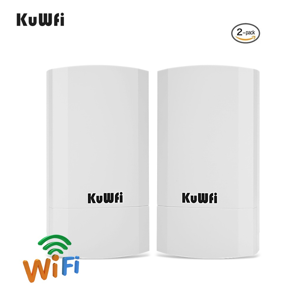 RU Shipping 2 PCS 2.4Ghz 300Mbps 2KM P2P No Setting Wireless Outdoor CPE Router Bridge Access Point Support WDS With LED Display