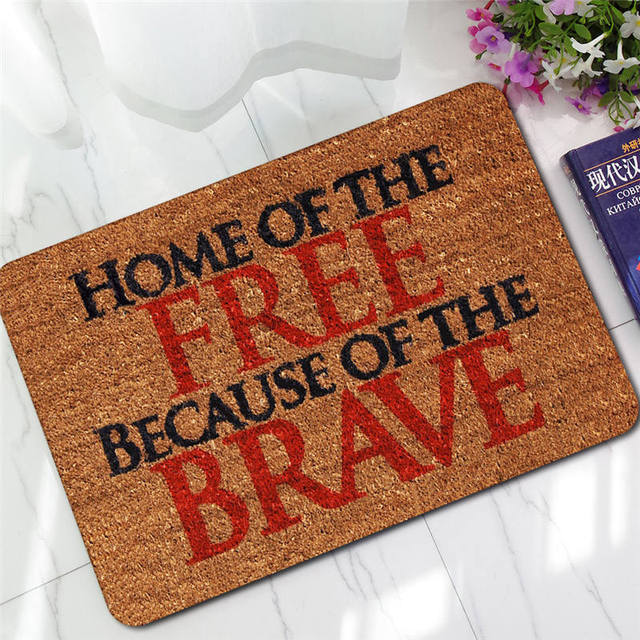 Funny American Entry Password Doormats Text Words Bathroom Mat Polyester  Anti Slip Bath Mats Carpet