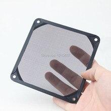 2 шт/партия 140 мм PC Вентилятор Алюминиевый Пылезащитный фильтр из нержавеющей сетки черный