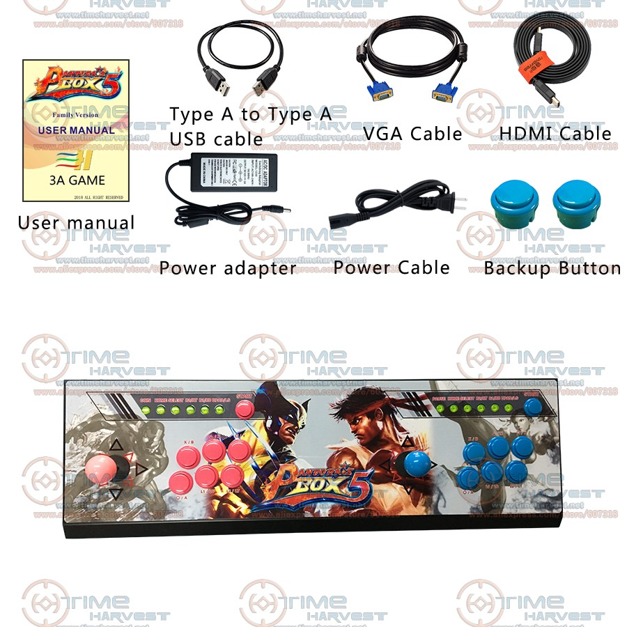 Pandora box 5 Family Game Console 2 Players 960 in 1 TV Fighting Joystick Arcade Rocker with 4 cores CPU HDMI VGA 720P HD Output double joystick family arcade games console pandora s box 4s 815 in 1 game board