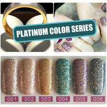 Mizhse Platinum Warna Kuku Gel Varnish Semi Permanen Kuku Seni Glitter Pearl Gelpolish Lacquer Rendam Off Uv Gel Cat Kuku(China)