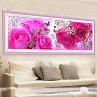 5D Diy Diamond Painting Cross Stitch Pink Roses Diamond Embroidery Rubik S Cube Diamond Drawing Diamond