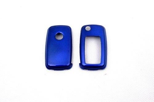 Жесткий Пластик БЕСКЛЮЧЕВОЙ дистанционный ключ защитный кожух(глянцевый металлический синий) для Фольксваген MK6