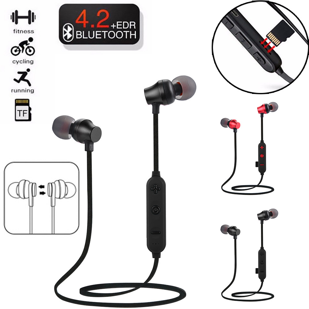 2019 New Mini Headset Support TF MP3 Sports Wireless Bluetooth 4.2 Card Stereo Sports Headphone Flash Memory Card SD #Y8