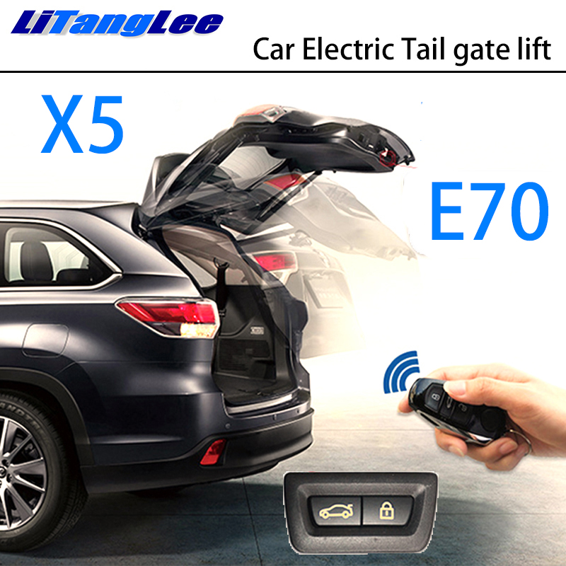 LiTangLee Car Electric Tail Gate Lift Trunk Rear Door Assist System For BMW X5 E70 2007~2013 Original Key Remote Control