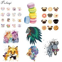 Pulaqi Cute Cartoon Heat Transfer Vinyl Iron On Patches Clothes Stickers For Sweater DIY Thermal Sticker A