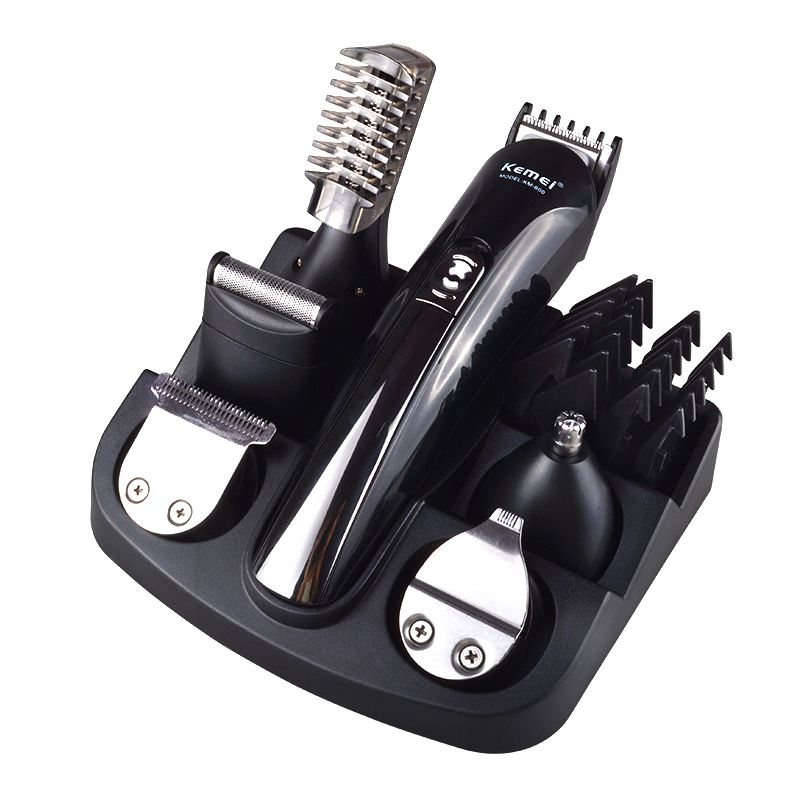 Kemei Rechargeable Hair Trimmer Titanium Hair Clipper Shaver Beard Trimmer Men Styling Tools Shaving Machine 50pcs variety curvature convenient disposable eyelash brushes knife trimmer clipper tools safety shaver clips professional2