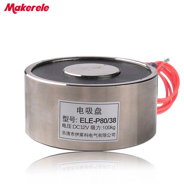 MK80/38 Halten Elektrische Magnet Hebe 100 KG/1000N Magnet Sucker ...