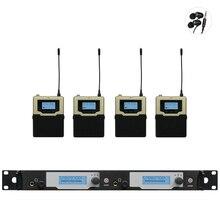 4 Twin Receptores transmissor Sem Fio In Ear Monitor Do Sistema de Monitoramento Profissional Atualizado SR2050 IEM G3 Sistema de feedback Estágio