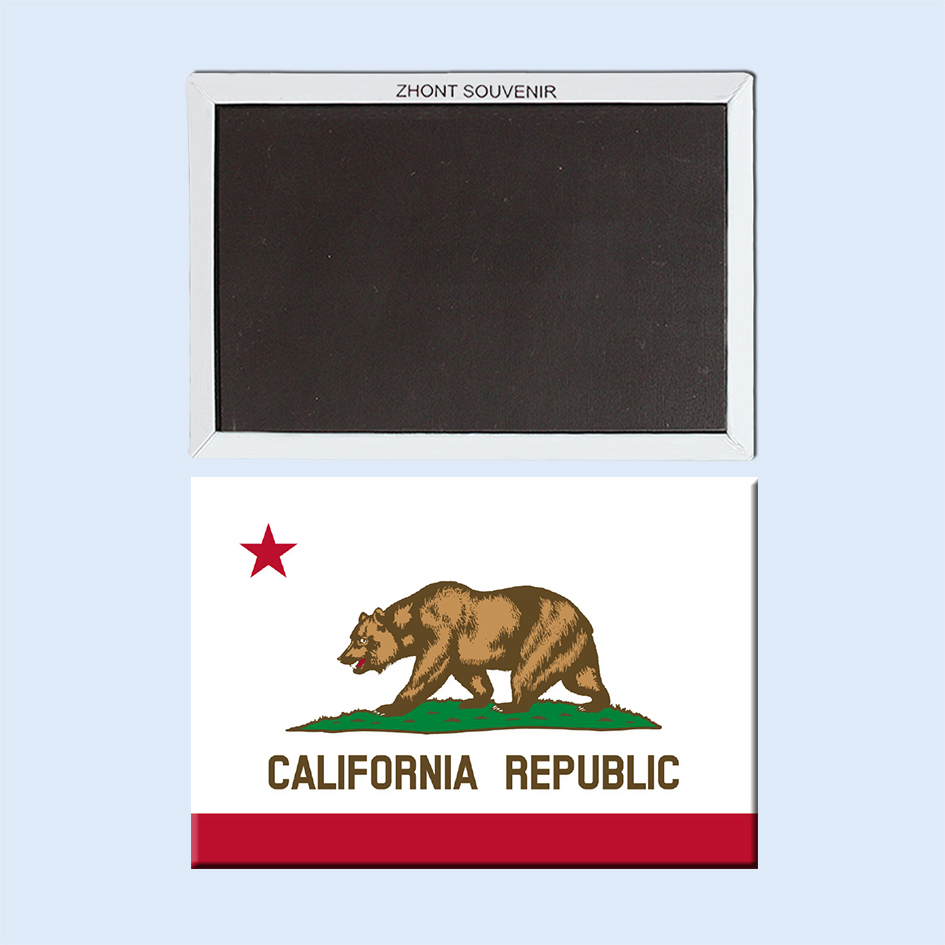 Golden State, Home Decor California State Flag Imán de nevera 002