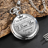 Quartz Pocket Chain Watch To My Son Necklace Watches Golden Clock For Child Kids Children's Day Gift Present reloj de bolsillo