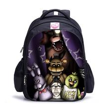 16 дюймов Five Nights At Freddys Детские рюкзаки для девочек-подростков школьные сумки ортопедический мультяшный рюкзак для детей мальчиков
