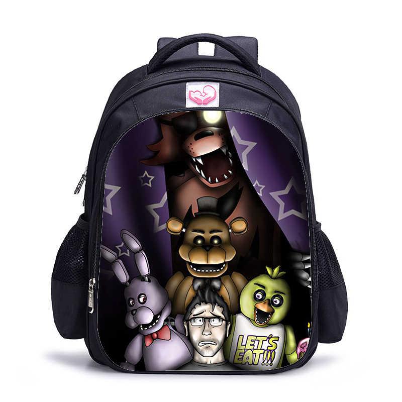 16 אינץ חמישה לילות Freddys ילדי תרמילי בית ספר נערות שקיות אורתופדי קריקטורה תרמיל לילדים בנים