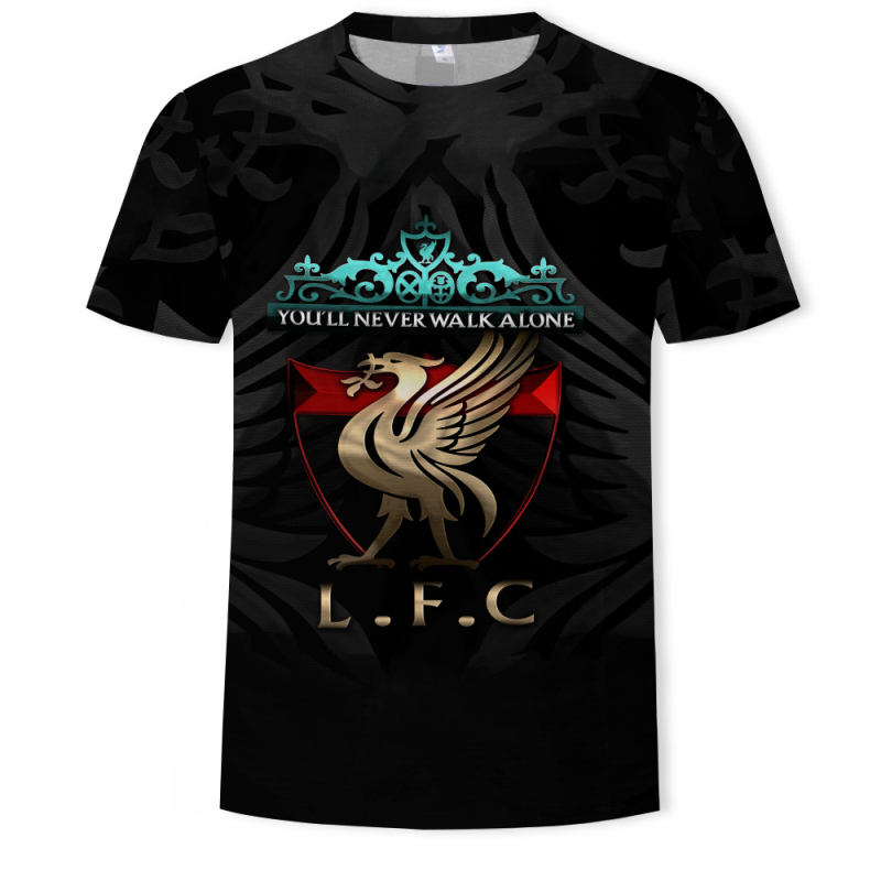 You'll Never Walk Alone Never Give Up Liverpool T-shirt Champions League Final Madrid 2019 O Neck 3D Printing T-Shirt Streetwear