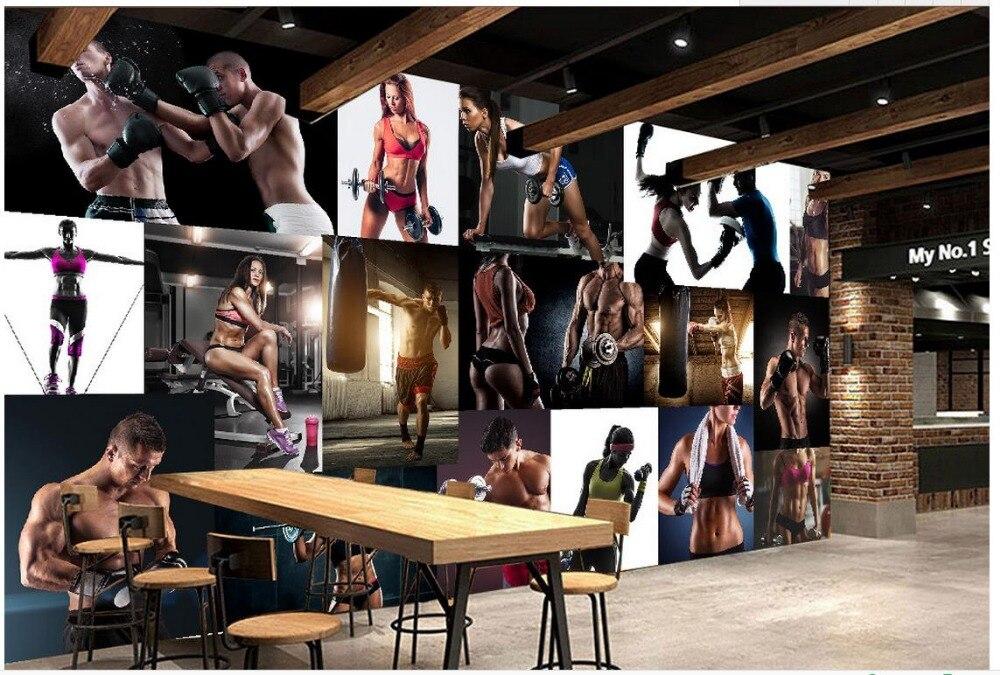 Custom 3d photo wall paper Bodybuilding beautiful guy Wallpaper 3d stereoscopic Wall Decoration
