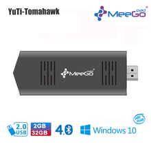 MEEGOPAD T02 2 ГБ/32 ГБ Дополнительно Ubuntu/Windows10 Мини PC Компьютер придерживайтесь Quad Core Intel Z3735F HDMI TV Box