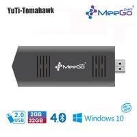 MEEGOPAD T02 2GB 32GB Optional Ubuntu Windows10 Mini PC Computer Stick Quad Core Intel Z3735F HDMI