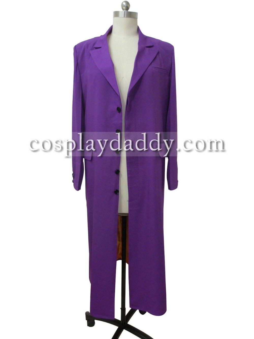 Batman Joker Purple Trench Coat Wool Party Suit Only Jacket