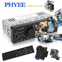 4.1 Car Radio 1 Din Stereo MP5 Bluetooth HD Audio Video Player Handsfree USB Charging TF Remotes In dash Head Unit PHYEE 7805
