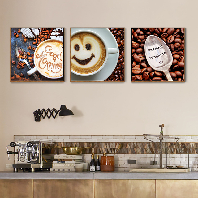 Aliexpresscom Buy Cute Coffee Kitchen Room Decor Poster And