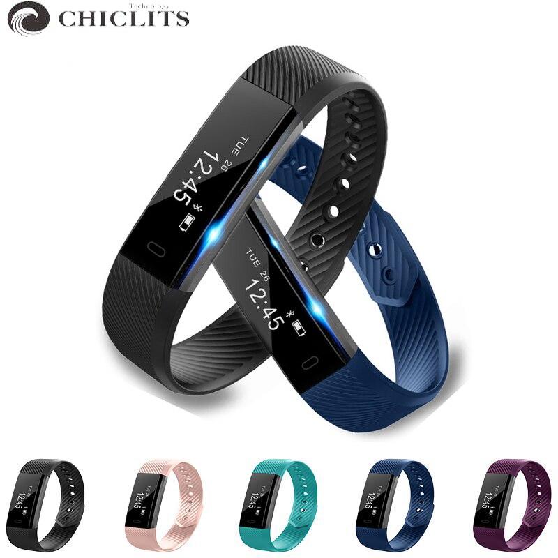Смарт-фитнес браслет id115 спортивные часы Шагомер трекер Smart Band будильник вибрации bluetooth браслет для iOS и Android