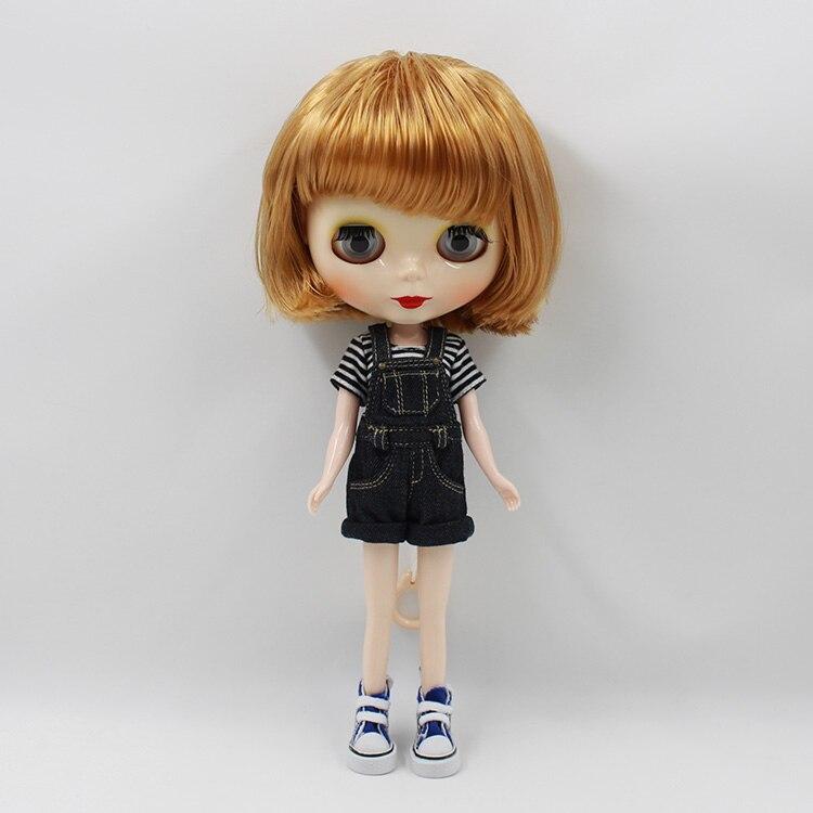 ФОТО Blyth doll nude gold short hair 12 fashion dolls makup DIY doll