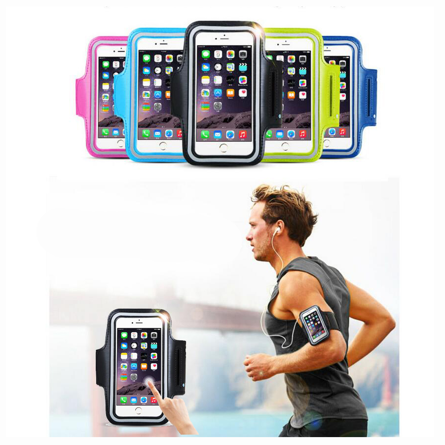 For Xiaomi 5 Mi5 MI Xiao (4.9-5.8'' ) Universal Waterproof Sports Running Arm Band Leather Case Armband Key Holder Touch Skin