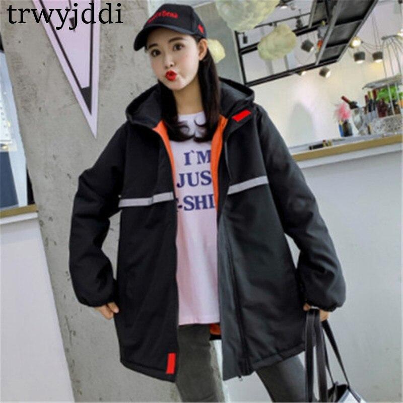 df264687487c6b Nouveau Coréenne Black Manteau Vêtements N365 Hiver Lâche vent 2019 Veste  apricot Femmes Coton Coupe Femme Harajuku ...