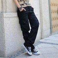 Cargo Spodnie Kobiety Taniec Hip-Hop Hiphop Spodnie Kobiece Spodnie Kombinezony Multi-pocket Spodnie Multi-pocket Spodnie Kobiece A2788