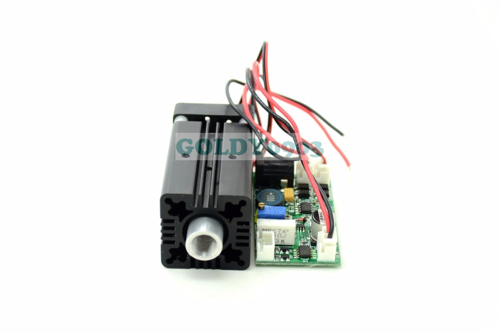 цена на 405nm 300mW Violet/Purple Laser Dot Module 12V+ TTL+ Fan Cooling- Working Long