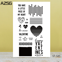 AZSG you have a little plece of my heart  Clear Stamps For DIY Scrapbooking/Card Making/Album Decorative Silicon Stamp Crafts