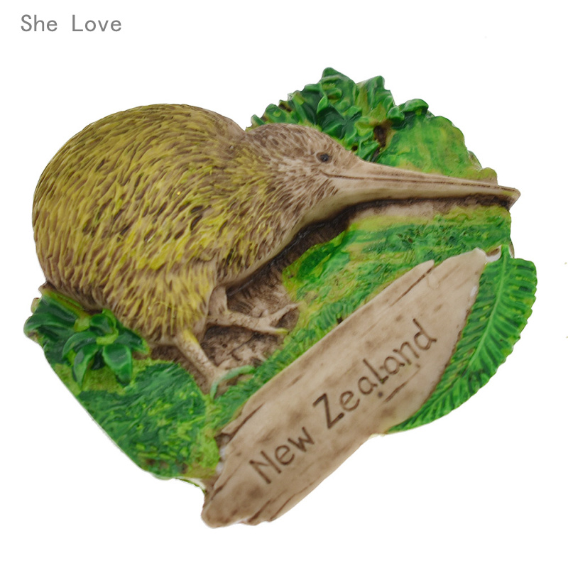 She Love <font><b>New</b></font> <font><b>Zealand</b></font> 3D <font><b>Fridge</b></font> <font><b>Magnet</b></font> Refrigerator Sticker Travel Gift <font><b>Souvenir</b></font> Decoration image