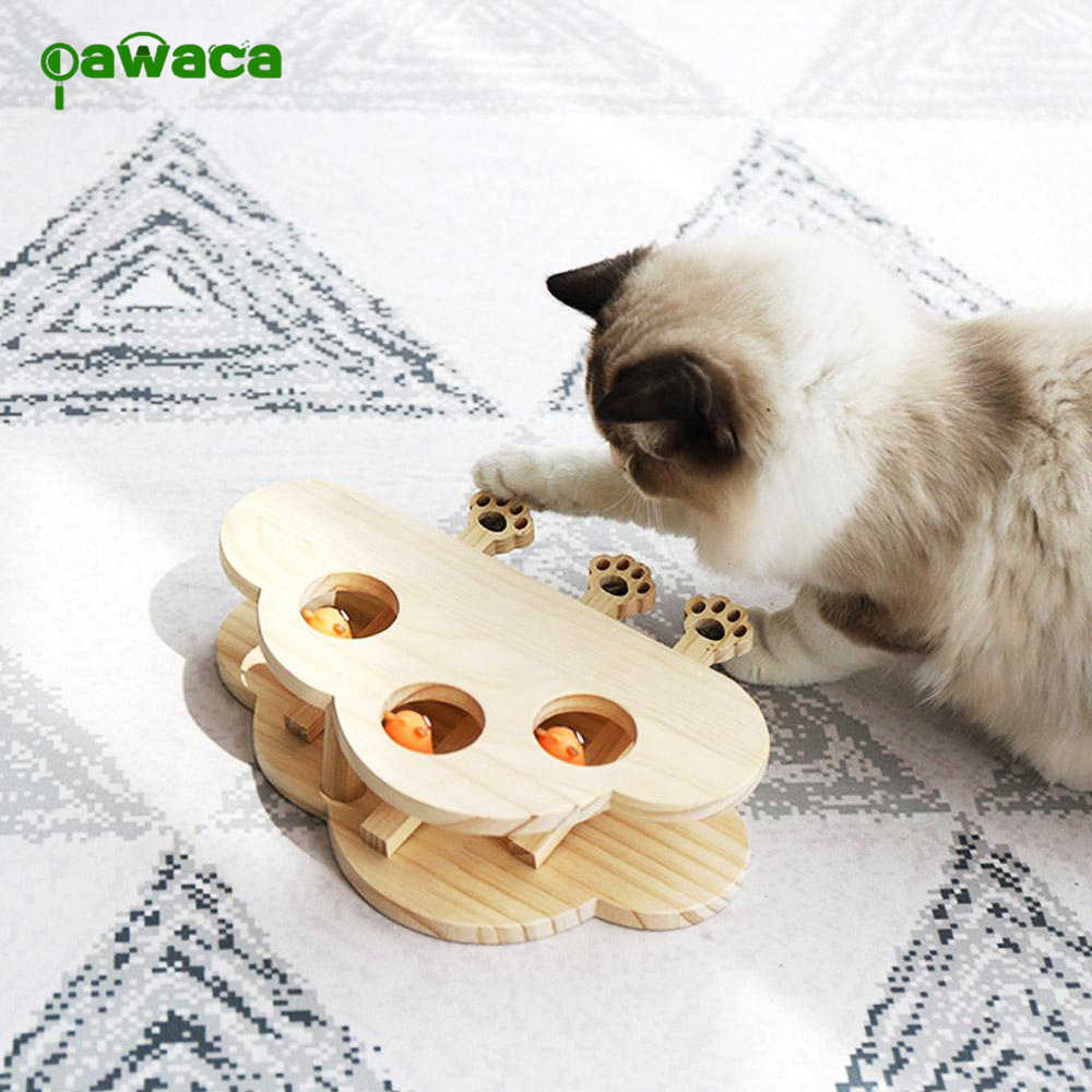 Wood Cat Hit Gophers toys Interactive Catch Mouse Game Machine Tease Cat Toys Pet Interactive Supplies