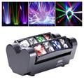 Бесплатная доставка 8*10 Вт светодиодный мини паук луч мыть сценическое оборудование эффект светильник для DJ диско RGBW полноцветный DMX проект...