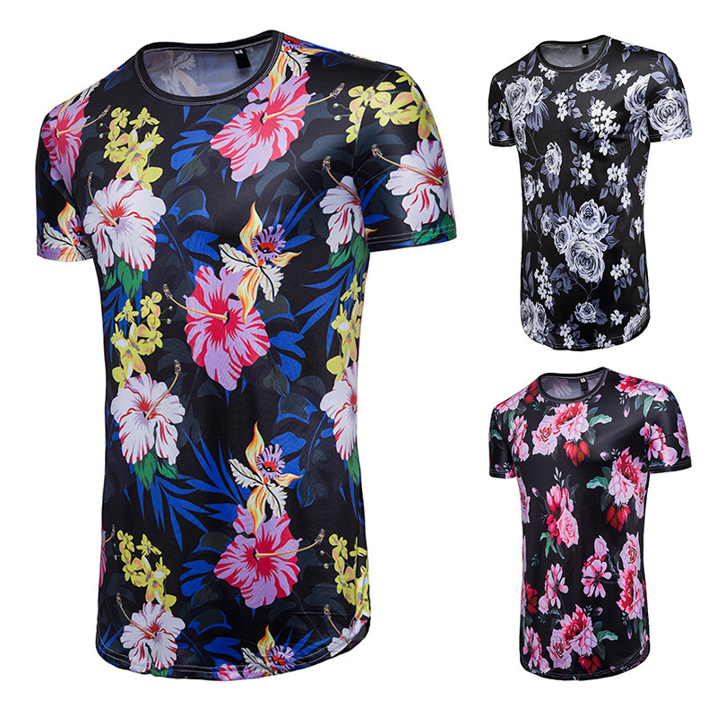 Summer Men's Printed Pullover T-shirt Hip Hop Short Sleeve Casual Round Neck Slim Fit  fashion tshirts men tee shirts