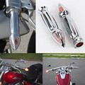 """Motorcycle Spiked Hand Grips Turn Signal Bar Ends 1"""" for Suzuki Volusia 800 M50 Intruder 1500 C90 Boulevard Free Shipping"""