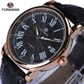 Forsining Men's Watch Top Brand Luxury Automatic Business Style Leather Strap Analog Dress Fashion Mechanical Wristwatch Men