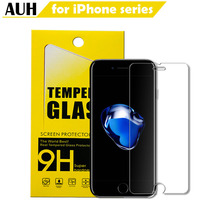 AUH Advanced Tempered Glass For iPhone 7 6 6s se 5s 7 8 x xr xs xs max Screen Protector iPhone 6s 7 Plus 8 Plus Glass Protection