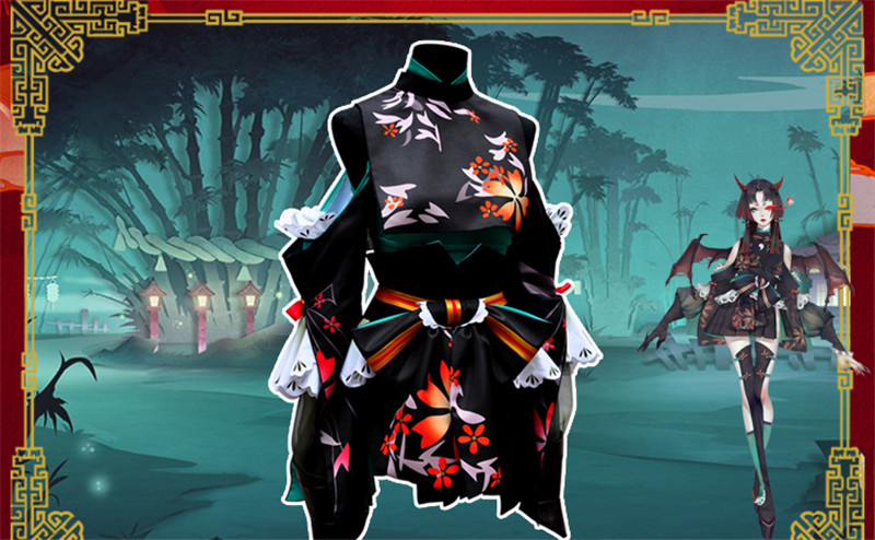 Anime Onmyoji New Skin Cosplay Costume Hot Sale Black Dress Beautiful Clothing