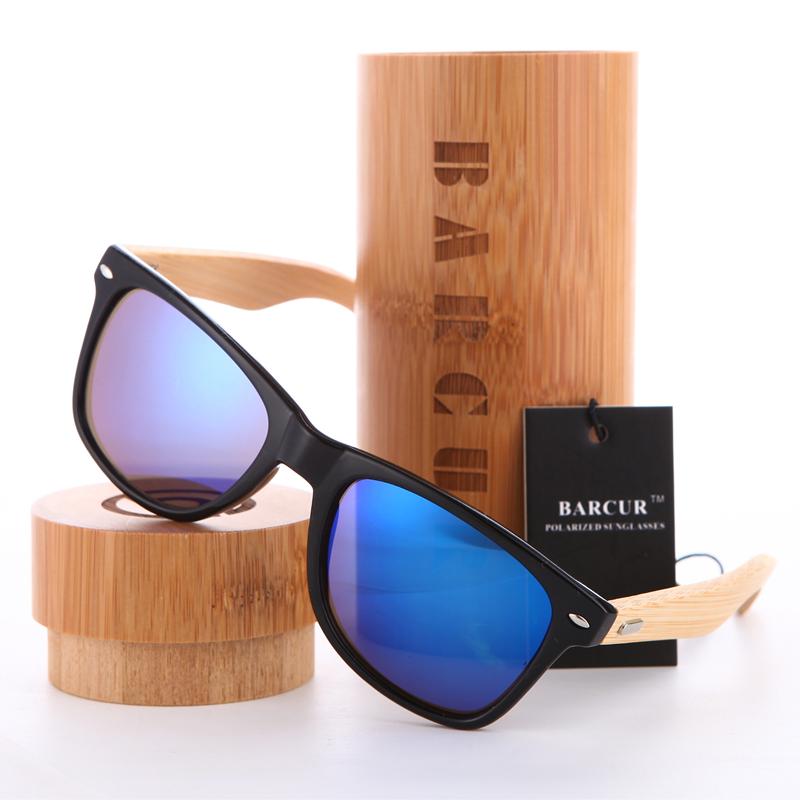 نظارة شمسية للرجال وللسيدات بعدسات بلورايزد واطار خشبي 12