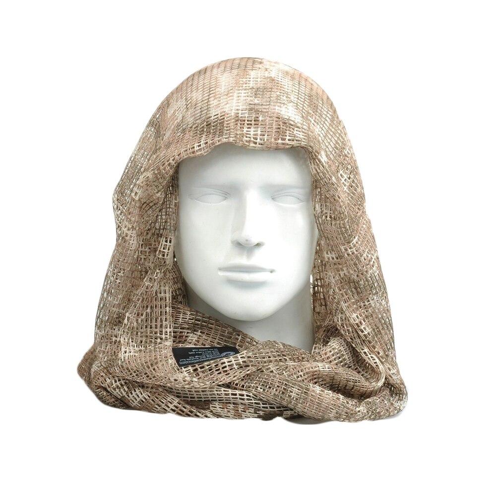 Vehemo хлопок оливковое маска для защиты лица полевое, для выживания шарфы для женщин тактический шарф сетчатый ветер - Цвет: CP Camo